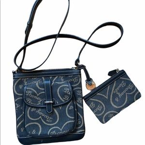 Dooney & Bourke vintage heart crossbody bag.